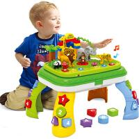 儿童幼儿园玩具大颗粒多功能积木桌子音乐动物宝宝男女孩3-6周岁 10合一学习积木桌