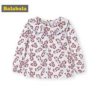 巴拉巴拉女童洋气衬衫宝宝衬衣秋装2019新款儿童上衣纯棉碎花寸衣