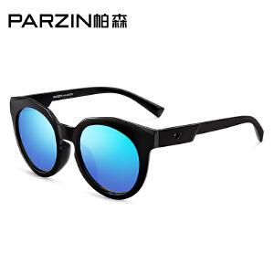 帕森儿童太阳镜 彩膜眼镜复古框潮墨镜男女童偏光镜 2002