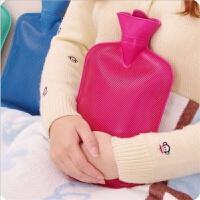 热水袋注水毛绒布套老式橡胶暖水袋暖手宝暖脚袋迷你加厚防爆学生注水��宫暖手宝暖敷肚子
