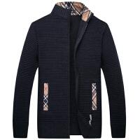 伯思凯男装2016秋季新款羊毛衫商务立领开衫拉链门襟保暖毛衣男外套