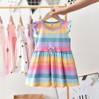斯提妮童装裙子2021新款女童连衣裙夏女孩洋气彩虹翅膀背心裙儿童公主裙【支持礼品卡】