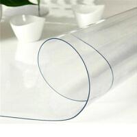 PVC桌布透明软质玻璃防水餐桌台布塑料桌垫免洗水晶板防油茶几垫1.2厚