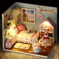 创意diy小屋拼装模型手工小屋女孩小小房生日礼物创意女生礼物