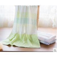 强吸水柔软舒适薄款方巾面巾浴巾透气耐用条纹毛巾礼盒 棉