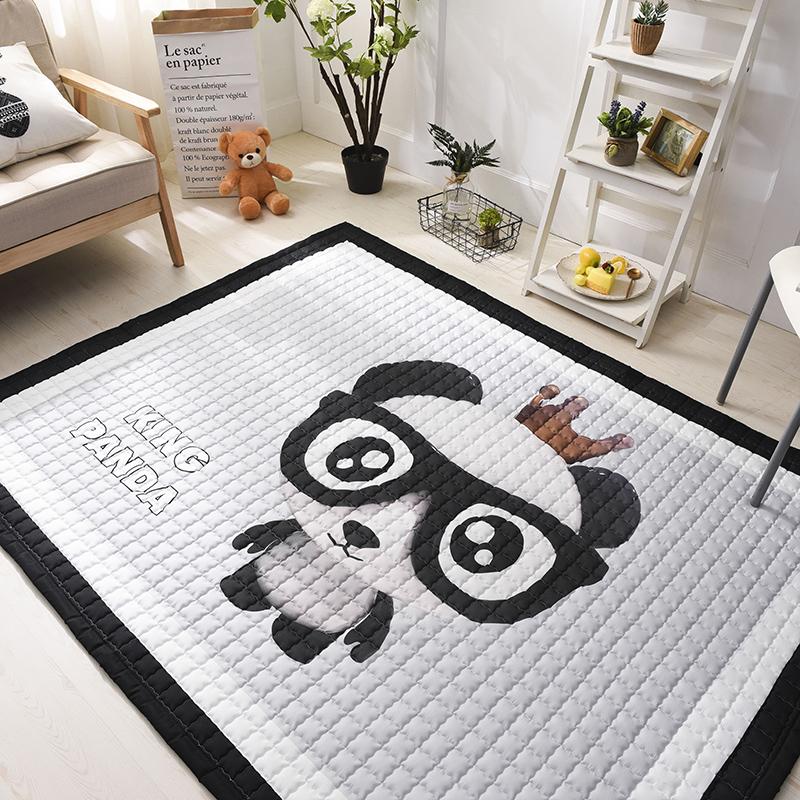 宝宝的爬行垫子 客厅卡通夹棉加厚防滑地垫 大号棉质可折叠可水洗  150*200cm