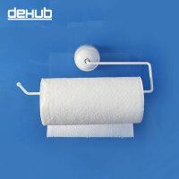 dehub吸盘多功能厨纸架 厨房纸巾架 毛巾浴巾挂架 白色