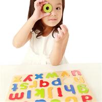 【当当自营】木玩世家 小写字母拼图 早教启蒙玩具 儿童木制色彩认知语言启蒙 BH2504B