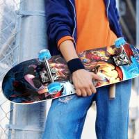 狂神专业枫木四轮闪光滑板儿童成人女生双翘滑板车初学者刷街