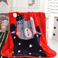 君别儿童小毛毯云毯双层加厚幼儿园冬季可爱卡通办公室珊瑚绒午睡盖毯 1.1X1.4米【约2.2斤】