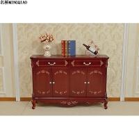 黑色红棕色欧式鞋柜韩式储物柜描金描银象牙白白色玄关柜 整装