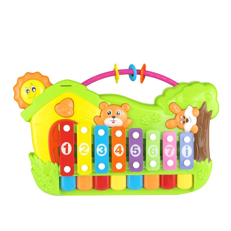 趣味儿童手敲琴 婴幼儿童宝宝多音阶小木琴益智玩具1-2-3岁