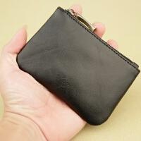 新款男士拉链零钱袋小钱包日韩女式牛皮手拿包小零钱包硬币包