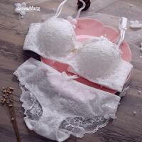 加厚插片小胸复古性感蕾丝刺绣聚拢文胸套装薄款内衣胸罩绑带