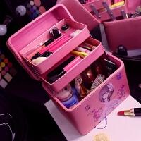 化妆箱韩国多层化妆品收纳包硬防水洗漱包女可爱化妆包大容量