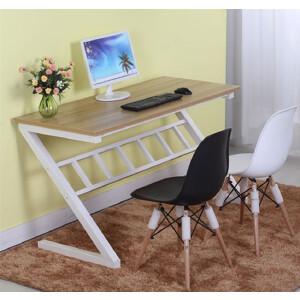 柏易 环保加厚耐磨Z型电脑桌 亲子学生小户型易拆装简易书桌办公台办公桌