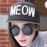 嘻哈帽子户外运动新品女网红同款时尚韩版潮字母平沿帽 刺绣男女士鸭舌棒球帽