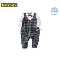 巴拉巴拉新生婴儿儿衣服连体衣宝宝外出抱衣哈衣包屁衣洋气格子男