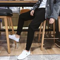 九分裤男潮青少年黑色束脚裤男士韩版休闲裤青年运动裤子哈伦长裤YC-856