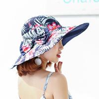 帽子女韩版夏天可折叠大沿遮阳帽潮太阳帽出游防晒海边沙滩帽