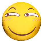 动漫周边滑稽脸抱枕害怕微笑脸表情包靠枕装逼恶搞毛绒公仔图片