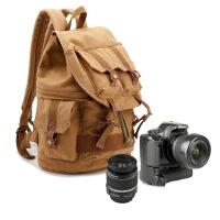 新款单反相机摄影包双肩背包帆布包 大容量包