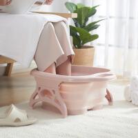 BELO/百露折叠泡脚盆塑料泡脚桶按摩桶足浴盆加高洗脚桶大号家用