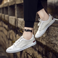 DAZED CONFUSED帆布鞋男2017夏季新款男鞋子韩版潮流休闲板鞋百搭开口笑低帮潮