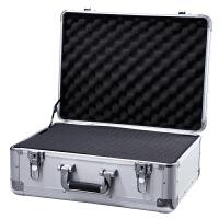 密码箱手提保险箱资料收纳箱铝合金工具箱带锁文件箱子美术工具箱 加加固