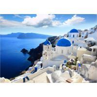 拼图1000成人木质风景拼图500益智玩具 爱琴海的白云