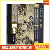 石涛画集 画册 (全套共2册) 铜版纸精装彩印16开 中国书画名家全集作品集