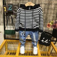 童装套装2018新款男童个性潮童套装2 3 4 5 6 7岁中小童两件套韩 卫衣+裤子两件套