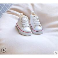 小白鞋小童板鞋男女�胗��W步鞋����帆布鞋�和�高�屯��