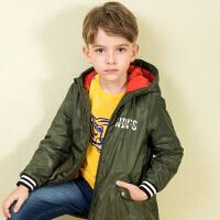【3件3折:140.7元】水孩儿souhait童装秋装新款男童中长款厚风衣AMD0915532