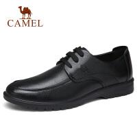 camel骆驼男鞋 秋季新品通勤上班休闲牛皮鞋低帮系带缓震轻盈鞋子