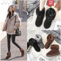 雪地靴女冬季新款韩版百搭保暖靴子加绒加厚短筒防滑鞋子女鞋