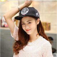 帽子 嘻哈帽 棒球帽 女士韩版嘻哈街舞棒球帽男平沿檐帽滑板帽遮阳防晒帽子潮