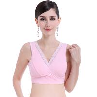 孕妇内衣背心式怀孕期舒适全棉无钢圈薄款睡眠胸罩交叉哺乳文胸夏