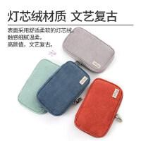 日本KOKUYO国誉灯芯绒笔袋多功能大容量文具袋女复古文艺笔盒创意高颜值学生简约毛绒文具盒