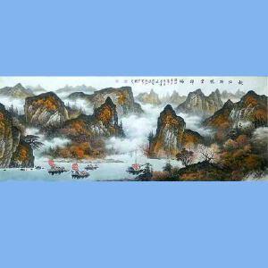中国美术协会会员,广西省美术家协会理事,国家一级美术师蒋清(秋山映帆云祥瑞)