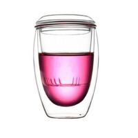 玻璃杯三件式�^�V���w�k公杯花茶杯水杯茶具杯子女喝水���w茶杯 �k公室�^�V泡茶杯