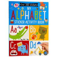 字母贴纸活动书 英文原版My Alphabet Sticker Activity Book
