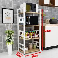 厨房置物架微波炉烤箱置物架3层不锈钢烤漆4层落地整理收纳架
