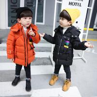 男孩子装外套1儿童2男宝宝3连帽羽绒棉袄4保暖5中小童6岁潮