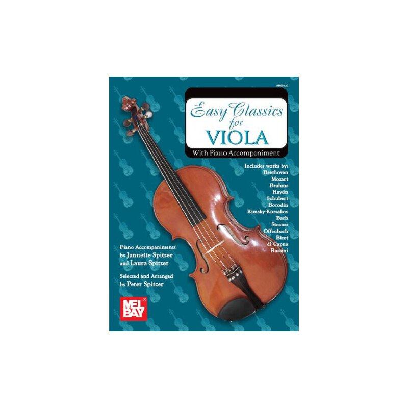 Easy Classics for Viola - With Piano Accompaniment [ISBN: 978-0786660131] 美国发货无法退货,约五到八周到货