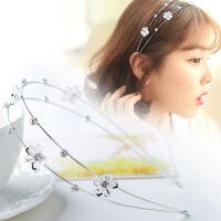 时尚韩版发箍 女士发饰压发条 镂空花朵头箍双层女头饰