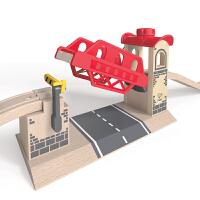 HapeE3709神奇升降桥儿童早教火车轨道配件玩具