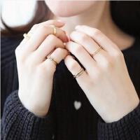 戒指女 配饰 饰品 花环趾戒尾戒 女食指指环 通用戒指 日韩简约 4件套