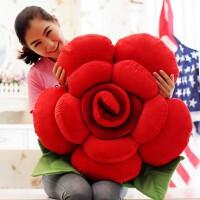 玫瑰花抱枕靠垫公仔创意毛绒玩具女生抱着睡觉的可爱