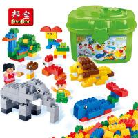 邦宝积木益智拼装玩具塑料大/中颗粒拼插教育系列3-6周岁儿童玩具